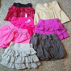 6 pairs of girl's size 5 skirts